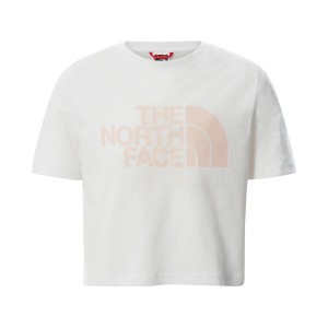 Tricou Casual Copii The North Face Girl'S S/S Easy Crop Tee Alb