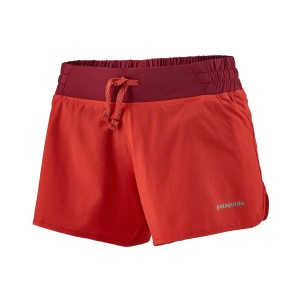 Pantaloni scurti Alergare Femei Patagonia Nine Trails Shorts - 4 in. Catalan Coral (Rosu)