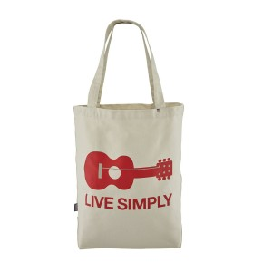 Geanta Patagonia Market Tote Live Simply Guitar: Bleached Stone (Gri)