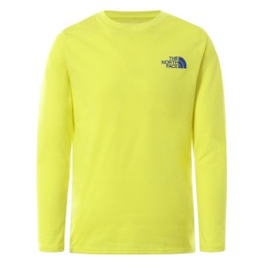 Bluza Drumetie Copii The North Face Boy'S L/S On Mountain Tee Lime