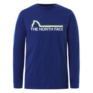Bluza Drumetie Copii The North Face Boy'S L/S On Mountain Tee Albastru