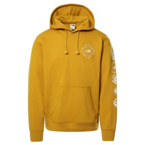 Hanorac Casual Barbati The North Face HIMALAYAN BOTTLE SOURCE PULLOVER HOODIE Mustar