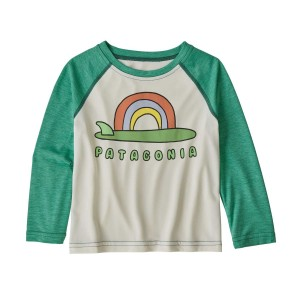 Bluza Copii Patagonia Baby Capilene Cool Daily Crew Birch White (Alb)
