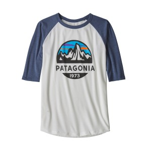 Tricou Baieti Hiking Patagonia 1/2 Sleeve Graphic Alb