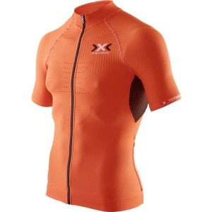 Tricou X-Bionic Biking Man THE TRICK OW SH-SL Full Zip Orange