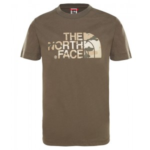 Tricou Juniori The North Face Easy Kaki