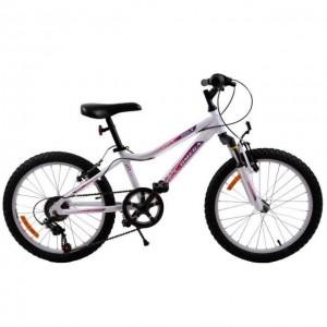 """Bicicleta Copii Omega Angle 20"""" Alb"""