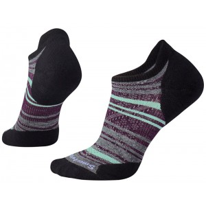 Sosete Smartwool Phd Run Light Elite Striped Micro W Negru