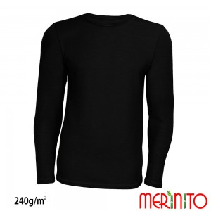 Bluza First Layer Barbati Merinito 240g/mp Neagra