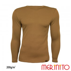 Bluza First Layer Barbati Merinito 200g/mp Bej