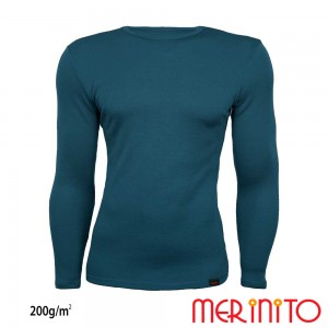 Bluza First Layer Barbati Merinito 200g/mp Turcoaz
