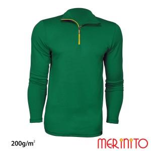 Bluza Barbati Merinito Sport Zip 200G Lana Merinos Verde