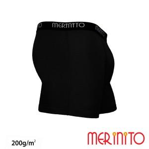 Lenjerie Barbati Merinito Boxer Briefs 200G 100% Lana Merinos Negru