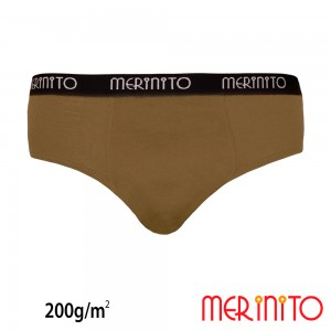 Lenjerie Barbati Merinito Heavy Duty Briefs 280g/mp Bej