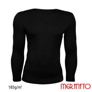 Bluza First Layer Barbati Merinito 185g/mp Neagra