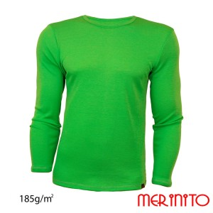 Bluza Barbati Merinito 185G 100% Lana Merinos Verde