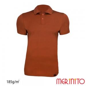 Tricou Merinito Polo Jersey 185G M Maro
