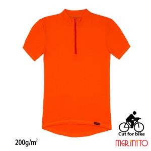 Tricou Barbati Merinito Cut For Bike 200G 100% Lana Merinos Portocaliu
