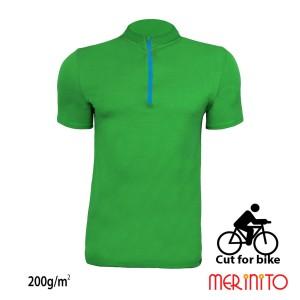 Tricou Barbati Merinito Cut For Bike 200G 100% Lana Merinos Verde