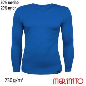Bluza Barbati Merinito 230G Lana Merinos Albastru