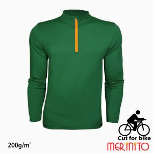 Bluza Barbati Merinito Cut For Bike 200G 100% Lana Merinos Verde