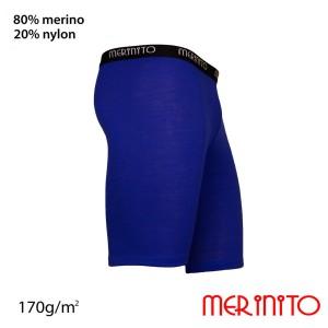 Colanti Scurti Barbati Merinito 170G Lana Merinos Albastru