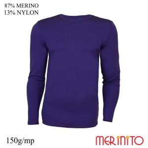 Bluza Barbati Merinito 150G 87% Lana Merinos 13% Nylon Indigo