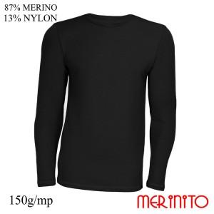 Bluza Barbati Merinito 150G 87% Lana Merinos 13% Nylon Negru