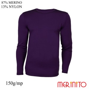 Bluza Barbati Merinito 150G 87% Lana Merinos 13% Nylon Violet