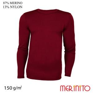 Bluza Barbati Merinito 150G 87% Lana Merinos 13% Nylon Grena