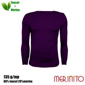 Bluza Barbati Merinito 135G 80% Tencel 20% Lana Merinos Mov