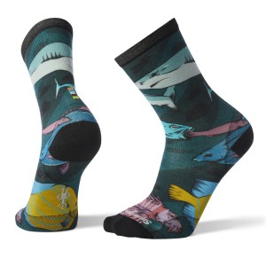 Sosete Barbati Smartwool Curated Something's Fishy Crew Verde
