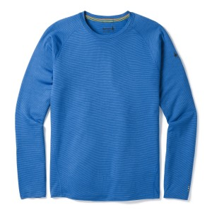 Bluza First Layer Barbati Smartwool Merino 150 Baselayer Pattern Long Sleeve Albastru