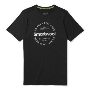 Tricou Barbati Smartwool Merino Sport 150 Go Far Feel Good Negru