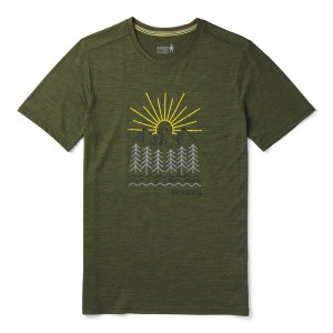 Tricou Barbati Smartwool Merino Sport 150 Mountain Morning Verde