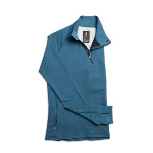 Bluza Alergare Femei ON Weather Shirt Storm Navy (Bleumarin)