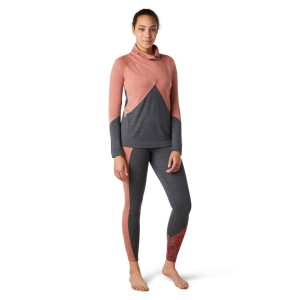 Bluza Femei Smartwool Merino 250 Crossover Neck Top Canyon Rose Heather (Roz)