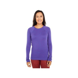 Bluza First Layer Femei Smartwool Merino 250 Base Layer Crew Boxed Desert Orchid Heather (Mov)