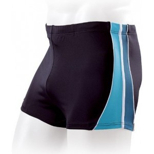 Boxeri Fashy Men Swimtrunk Negru/ Turcoaz