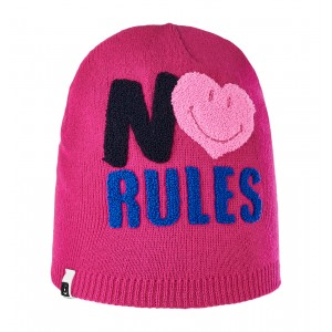 Caciula Brekka No Rules Smiley Beanie Roz