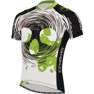 Tricou ciclism Briko Bloody Man Alb/ Negru/ Verde