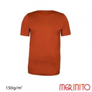 Tricou First Layer Merinito 100% lana merinos 150G K Portocaliu