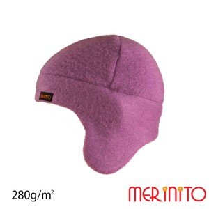 Caciula Copii Merinito Soft Fleece 100% Lana Merinos Violet