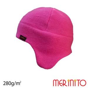 Caciula Copii Merinito Soft Fleece 100% Lana Merinos Roz