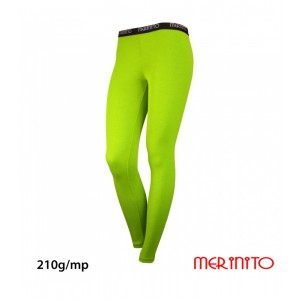Pantaloni First Layer Merinito Rib Pointelle 100% Merinos 210g W Lime