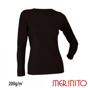 Bluza First Layer Dama Merinito 200g/mp Neagra