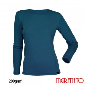 Bluza First Layer Dama Merinito 200g/mp Turcoaz