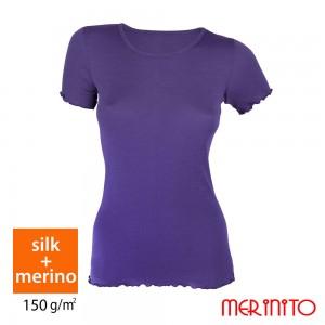 Tricou Merinito 70% Matase + 30% Merinos 150g W Albastru