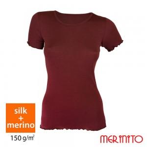 Tricou Merinito 70% Matase + 30% Merinos 150g W Visiniu
