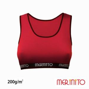 Bustiera Merinito 200G 100% Lana Merinos Rosu